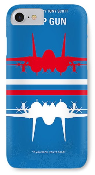 No128 My Top Gun Minimal Movie Poster IPhone Case by Chungkong Art