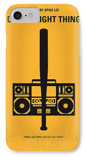 No179 My Do The Right Thing Minimal Movie Poster Phone Case by Chungkong Art