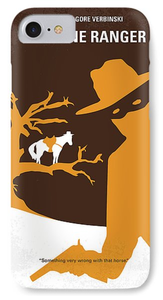 No202 My The Lone Ranger Minimal Movie Poster IPhone Case by Chungkong Art