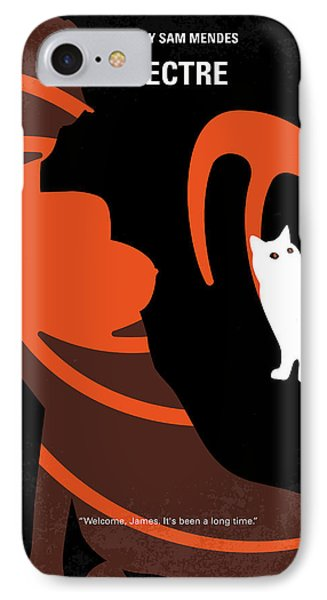 No277-007-2 My Spectre Minimal Movie Poster IPhone Case by Chungkong Art