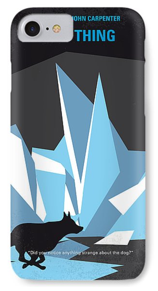 No466 My The Thing Minimal Movie Poster IPhone Case by Chungkong Art