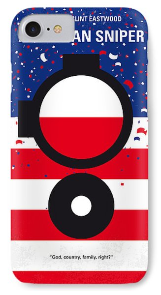 No435 My American Sniper Minimal Movie Poster IPhone Case by Chungkong Art