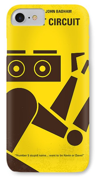No470 My Short Circuit Minimal Movie Poster IPhone Case by Chungkong Art
