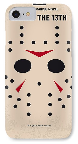 No449 My Friday The 13th Minimal Movie Poster IPhone Case by Chungkong Art