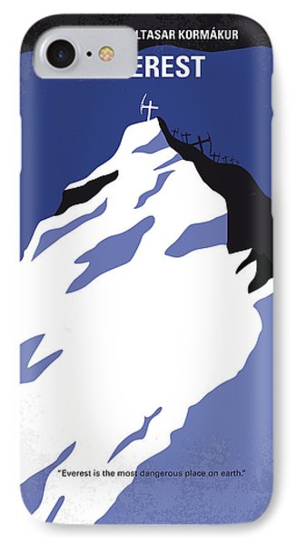 No492 My Everest Minimal Movie Poster IPhone Case by Chungkong Art