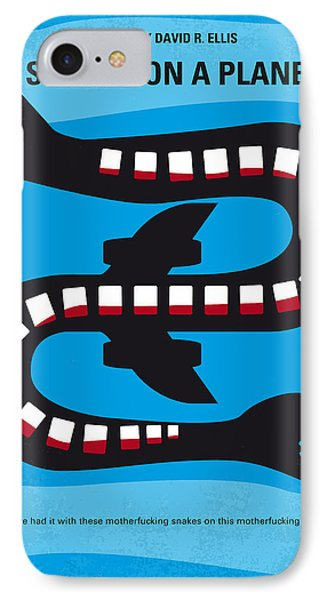 No501 My Snakes On A Plane Minimal Movie Poster IPhone 7 Case by Chungkong Art