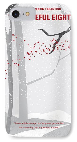 No502 My Hateful Eight Minimal Movie Poster IPhone Case by Chungkong Art