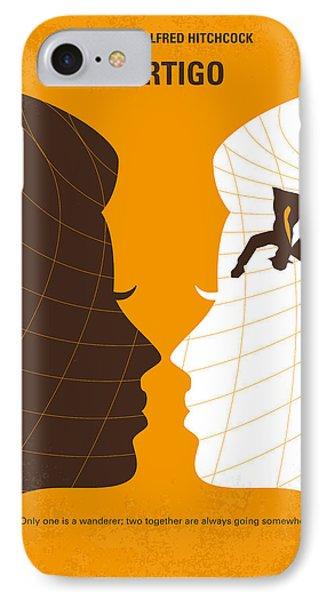 No510 My Vertigo Minimal Movie Poster IPhone Case by Chungkong Art