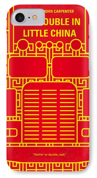 No515 My Big Trouble In Little China Minimal Movie Poster IPhone Case by Chungkong Art