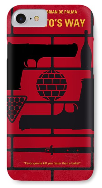 No530 My Carlitos Way Minimal Movie Poster IPhone Case by Chungkong Art