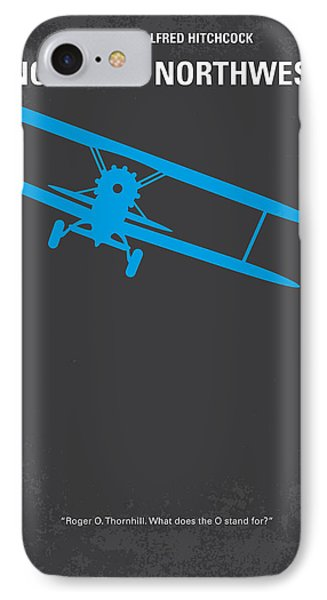 No535 My North By Northwest Minimal Movie Poster IPhone Case by Chungkong Art