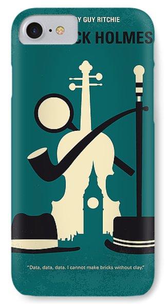 No555 My Sherlock Holmes Minimal Movie Poster IPhone Case by Chungkong Art