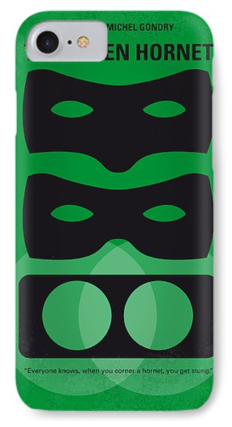 No561 My The Green Hornet Minimal Movie Poster IPhone Case by Chungkong Art