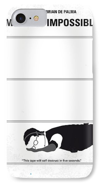 No583 My Mission Impossible Minimal Movie Poster IPhone Case by Chungkong Art