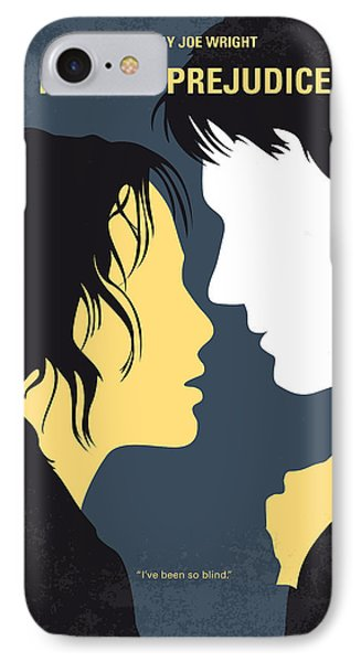 No584 My Pride And Prejudice Minimal Movie Poster IPhone Case by Chungkong Art