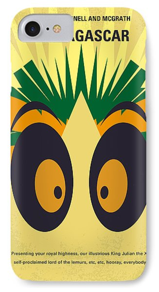 No589 My Madagascar Minimal Movie Poster IPhone Case by Chungkong Art