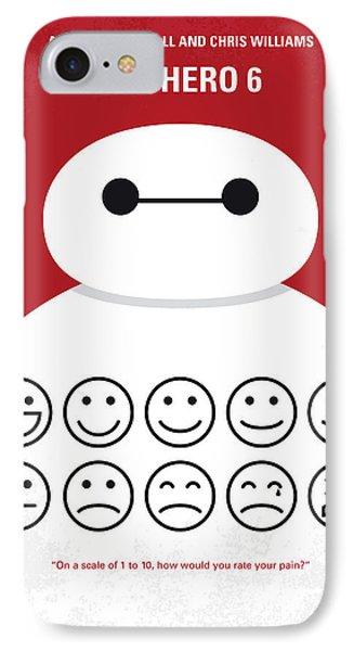 No649 My Big Hero 6 Minimal Movie Poster IPhone Case by Chungkong Art