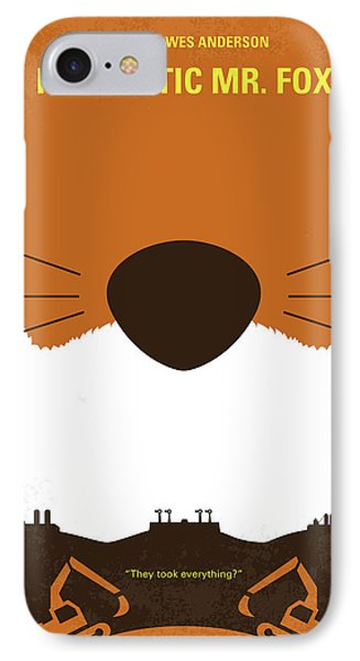 No673 My Fantastic Mr Fox Minimal Movie Poster IPhone Case by Chungkong Art
