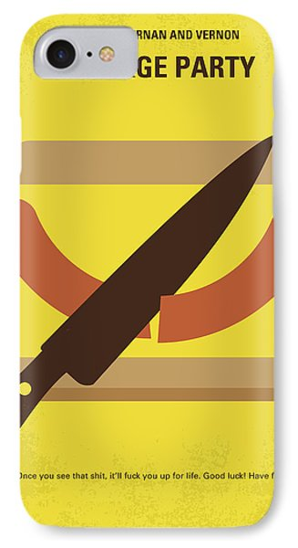 No704 My Sausage Party Minimal Movie Poster IPhone Case by Chungkong Art