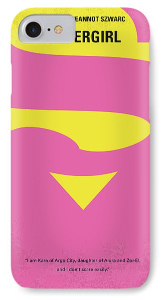 No720 My Supergirl Minimal Movie Poster IPhone Case by Chungkong Art