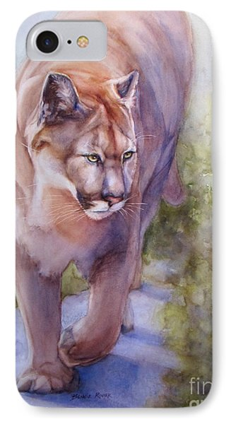 Noble Cougar IPhone Case by Bonnie Rinier