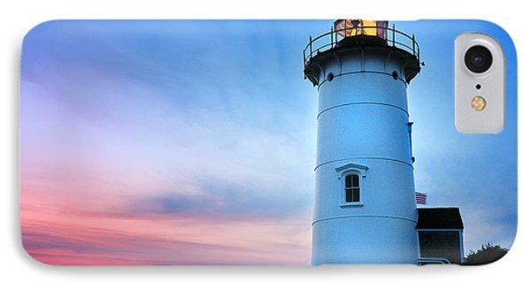 Nobska Point Lighthouse Phone Case by Thomas Schoeller
