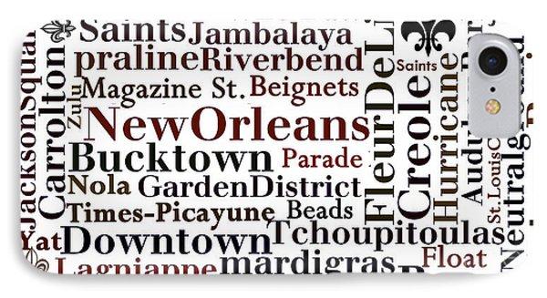 Nola Typography  IPhone Case by NolaOriginals