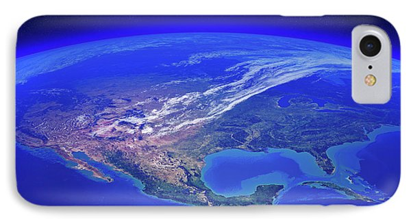 North America Seen From Space IPhone Case by Johan Swanepoel