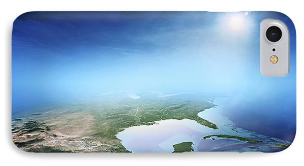 North America Sunrise Aerial View IPhone Case by Johan Swanepoel