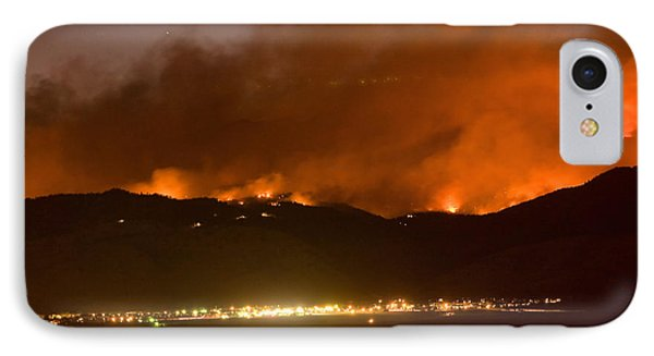 North Boulder Colorado Fire Above In The Hills IPhone Case by James BO  Insogna