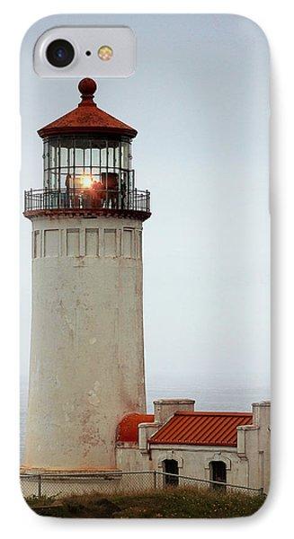 North Head Lighthouse - Ilwaco On Washington's Southwest Coast Phone Case by Christine Till