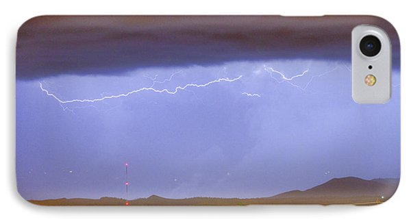 Northern Colorado Rocky Mountain Front Range Lightning Storm  IPhone Case by James BO  Insogna