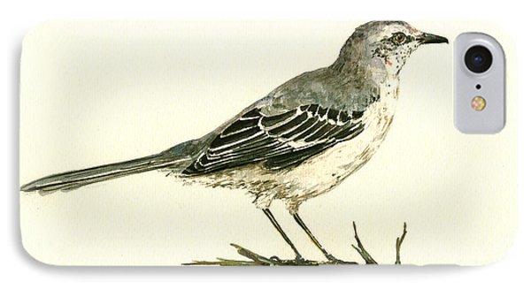 Northern Mockingbird IPhone 7 Case by Juan  Bosco
