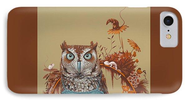 Northern Screech Owl IPhone 7 Case by Jasper Oostland