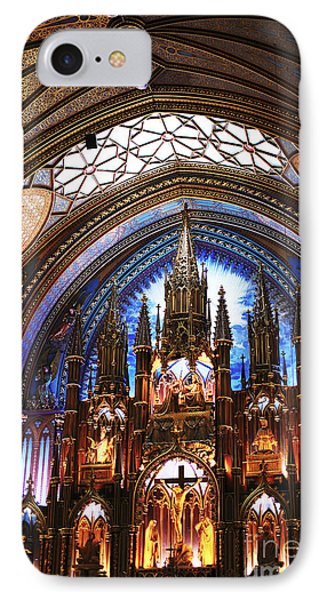 Notre Dame Ceiling IPhone Case by John Rizzuto