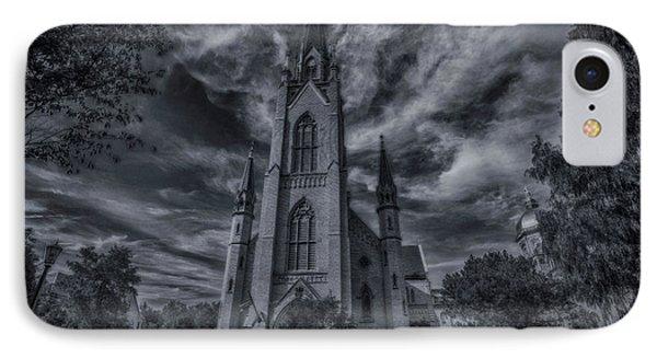 Notre Dame University Church IPhone 7 Case by David Haskett