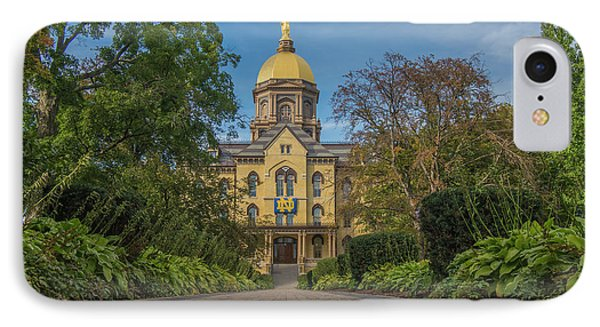 Notre Dame University Q IPhone Case by David Haskett