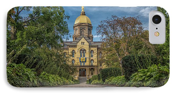 Notre Dame University Q1 IPhone Case by David Haskett