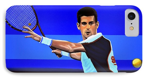 Novak Djokovic IPhone 7 Case by Paul Meijering