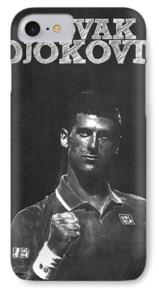 Novak Djokovic IPhone Case by Semih Yurdabak