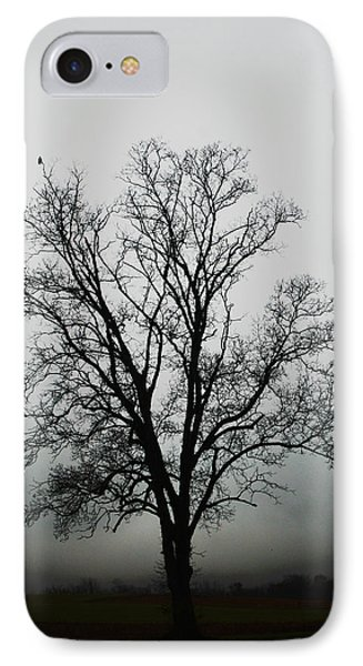 November Tree In Fog Phone Case by Patricia Motley