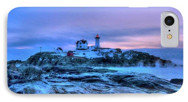 Nubble Lighthouse Sunrise - York, Maine IPhone Case by Joann Vitali
