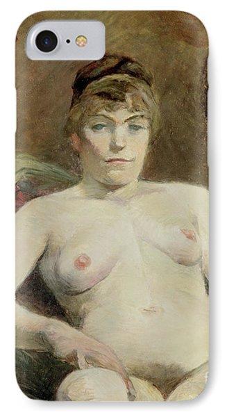 Nude Woman, 1884 IPhone Case by Henri de Toulouse-Lautrec