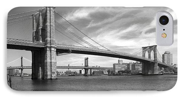 Nyc Brooklyn Bridge IPhone 7 Case by Mike McGlothlen