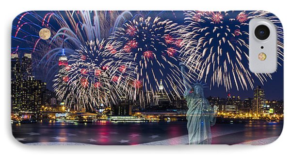 Nyc Fourth Of July Celebration IPhone Case by Susan Candelario