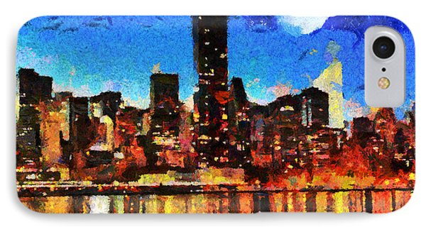 Nyc Skyline At Night IPhone Case by Anthony Caruso
