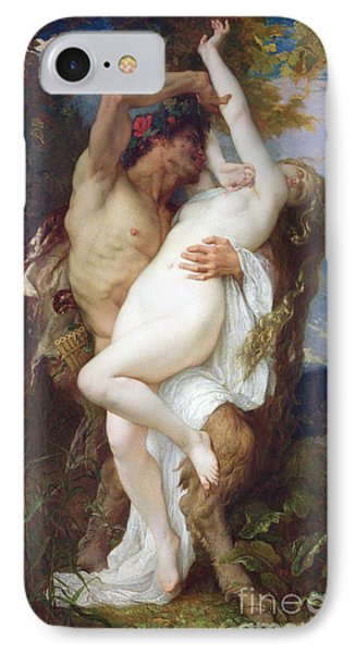 Nymph Abducted By A Faun IPhone Case by Alexandre Cabanel