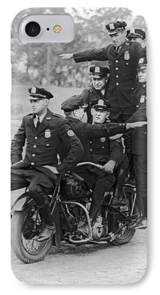 Nypd Motorcycle Stunts IPhone Case by Underwood Archives