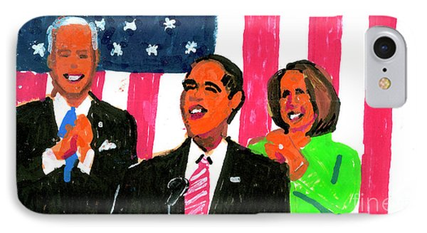Obama's State Of The Union '10 IPhone 7 Case by Candace Lovely