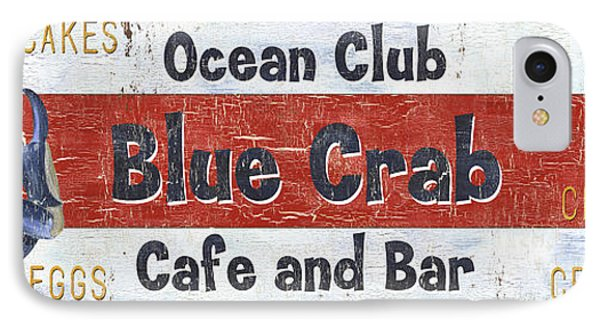 Ocean Club Cafe IPhone Case by Debbie DeWitt
